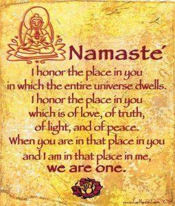 Namaste' Plaque
